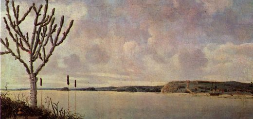 "The Rio São Francisco and Fort Maurits, by Frans Post, as presented in Philippe Descola's lecture ""Les formes du paysage"""